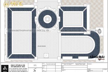 12 Bản vẽ tầng mái biệt thự lâu đài cổ điển pháp tại long an sh btld 0042