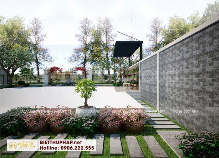 Ý tưởng thiết kế tiểu cảnh sân vườn đẹp, xinh xắn được chủ đầu tư Quân và gia đình vô cùng yêu thích