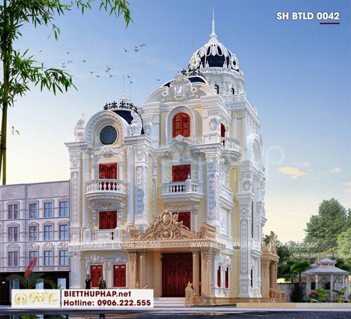 Biệt thự lâu đài pháp sở hữu đường nét kiến trúc vững chãi thể hiện uy quyền của chủ sở hữu