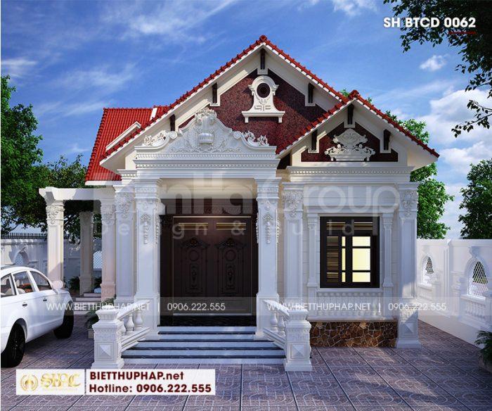 Kiến trúc ngôi biệt thự tân cổ điển 2 mặt tiền sử dụng những nguyên vật liệu truyền thống làm nên nét đẹp sang trọng, tinh tế