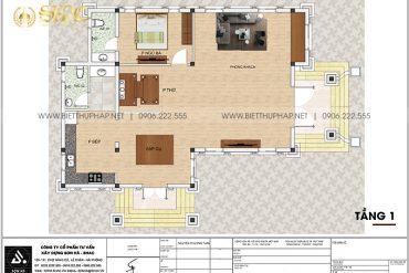 4 Mặt bằng tầng 1 biệt thự tân cổ điển 2 mặt tiền tại hải phòng sh btcd 0062