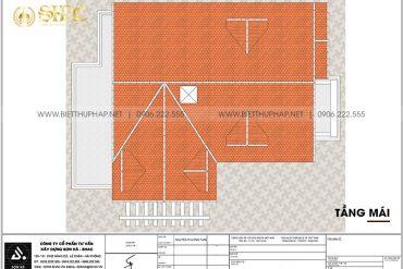 5 Bản vẽ tầng mái biệt thự kiểu tân cổ điển đẹp tại hải phòng sh btcd 0062
