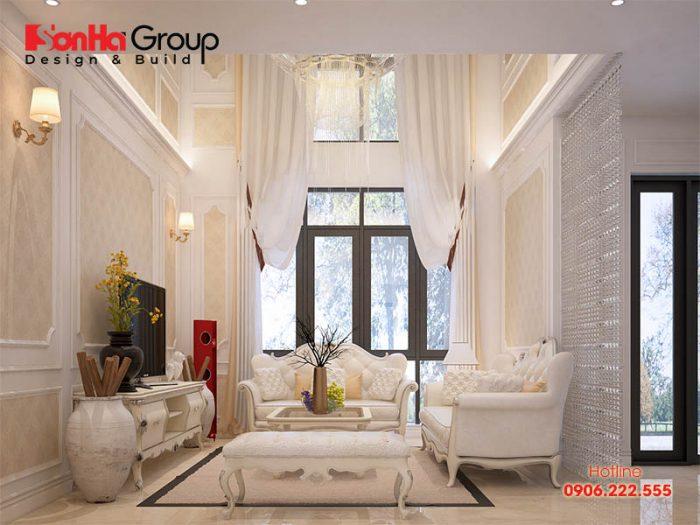 Những gam màu tươi sáng mang đến cho không gian phòng khách sự thoáng đãng, rộng rãi