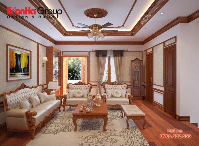 Vật liệu gỗ bền đẹp luôn là xu hướng được nhiều gia chủ Việt lựa chọn trong thiết kế, trang trí nội thất phòng khách