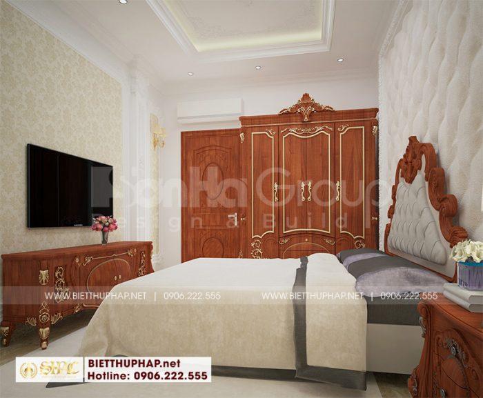 Thêm một mẫu thiết kế phòng ngủ đẹp với bố trí giản dị mà thanh nhã cho biệt thự