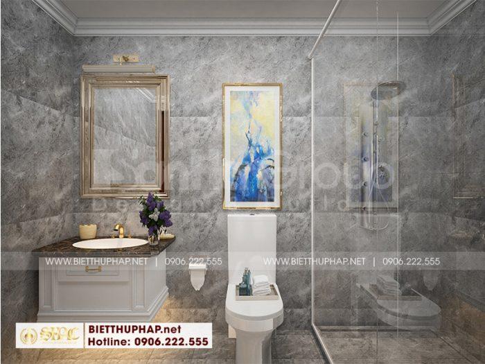 Thiết kế nội thất nhà vệ sinh tiện nghi trong căn phòng ngủ