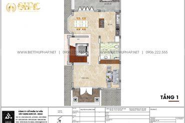 19 Bản vẽ tầng 1 cải tạo nội thất biệt thự tân cổ điển tại quảng ninh