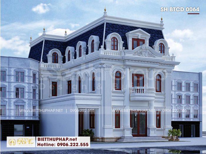 Kiến trúc đẹp của ngôi biệt thự 3 tầng tầng diện tích 12x20m tại An Giang