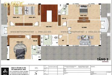 21 Bản vẽ tầng 2 biệt thự tân cổ điển 3 tầng tại an giang sh btcd 0064