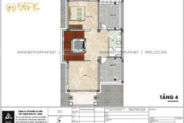 22 Mặt bằng tầng 4 cải tạo nội thất biệt thự tân cổ điển tại quảng ninh