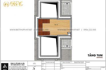 23 Bản vẽ tầng tum cải tạo nội thất biệt thự tân cổ điển tại quảng ninh