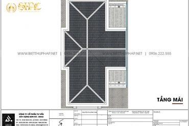 24 Mặt bằng tầng mái cải tạo nội thất biệt thự tân cổ điển tại quảng ninh