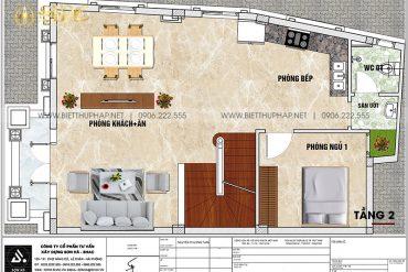 4 Bản vẽ tầng 2 biệt thự lâu đài mini xa hoa tại hưng yên sh btld 0043