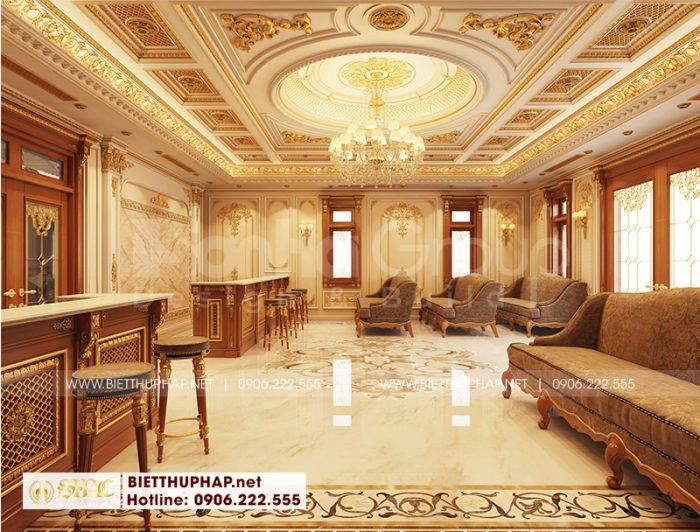 Thiết kế nội thất khu vực kinh doanh cho biệt thự tân cổ điển tại An Giang