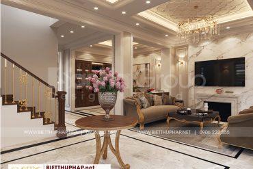 4 Mẫu nội thất sảnh tầng 1 kiểu tân cổ điển tại quảng ninh