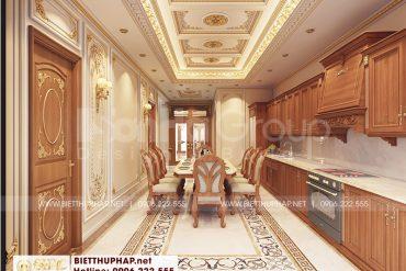 6 Thiết kế nội thất phòng bếp ăn cao cấp tại an giang sh btcd 0064