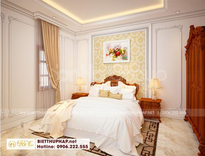 Thiết kế phòng ngủ đẹp phong cách tân cổ điển cho biệt thự 3 tầng tại An Giang