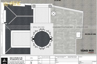 8 Bản vẽ tầng mái biệt thự lâu đài mini sang trọng tại hưng yên sh btld 0043