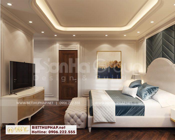 Từng mẫu phòng ngủ đẹp của ngôi biệt thự đều được bố trí toát nét đẹp riêng