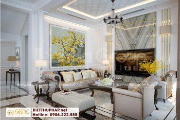 1 Thiết kế nội thất phòng khách cao cấp tại khu đô thị vinhomes imperia hải phòng
