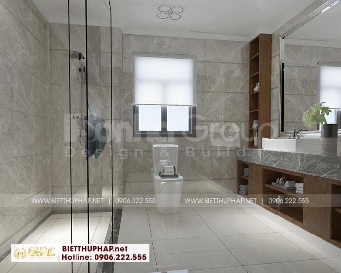 Thiết kế nội thất phòng tắm – wc tiện nghi trong mỗi căn phòng ngủ biệt thự