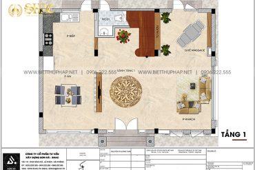 12 Mặt bằng tầng 1 biệt thự kiểu tân cổ điển đẹp tại vinhomes imperia hải phòng