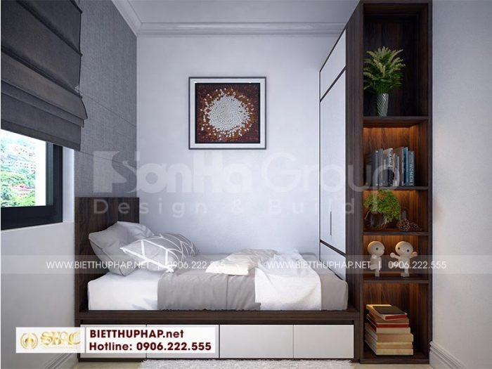 Thiết kế nội thất phòng ngủ giúp việc đẹp tại tầng 1 ngôi biệt thự