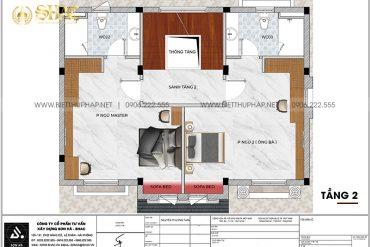 13 Bản vẽ tầng 2 biệt thự tân cổ điển 3 tầng tại vinhomes imperia hải phòng