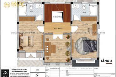14 Mặt bằng tầng 3 biệt thự tân cổ điển mặt tiền 12m tại vinhomes imperia hải phòng