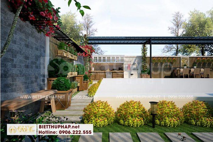 Thiết kế tiểu cảnh sân vườn ấn tượng được gia chủ vô cùng yêu thích