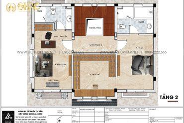 19 Bản vẽ tầng 2 biệt thự tân cổ điển 3 tầng tại khu đô thị vinhomes imperia hải phòng