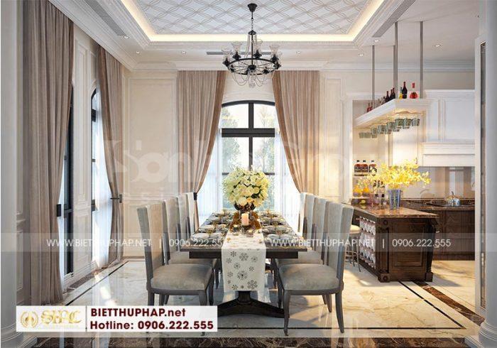 Căn phòng ăn có thiết kế nội thất đẹp, đơn giản mà sang trọng