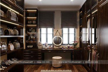 5 Bố trí nội thất phòng thay đồ biệt thự tân cổ điển tại khu đô thị vinhomes imperia hải phòng