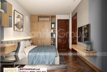 7 Mẫu nội thất phòng ngủ con trai biệt thự tân cổ điển tại vinhomes imperia hải phòng