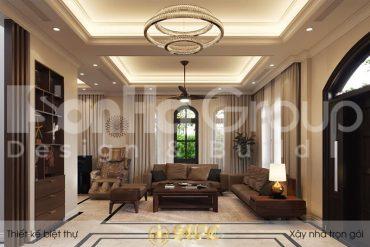 BÌA thiết kế nội thất biệt thự tân cổ điển 3 tầng đẹp tại vinhomes imperia hải phòng