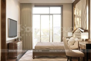 5 Bố trí nội thất phòng ngủ 2 kiểu tân cổ điển tại vinhomes marina