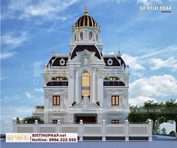 5 Thiết kế biệt thự lâu đài xa hoa tại hà nam sh btld 0044