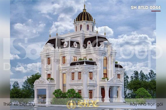 BÌA thiết kế biệt thự lâu đài cổ điển 4 tầng 1 tum tại hà nam sh btld 0044