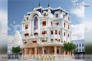 BÌA thiết kế biệt thự lâu đài cổ điển 5 tầng mặt tiền 23,5m tại vũng tàu sh btld 0045