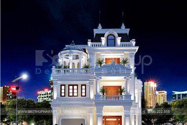 1 Thiết kế biệt thự tân cổ điển đẹp tại hải phòng sh btcd 0067