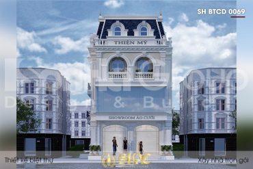 BÌA thiết kế biệt thự tân cổ điển 3 tầng kết hợp kinh doanh tại hải phòng sh btcd 0069