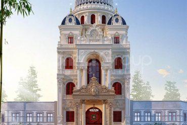 3 Kiến trúc biệt thự lâu đài mặt tiền 10m tại hà nội sh btld 0047