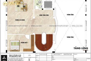 6 Mặt bằng tầng lửng biệt thự lâu đài 5 tầng tại hà nội sh btld 0047