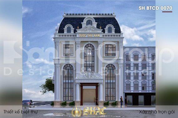 BÌA thiết kế biệt thự tân cổ điển 3 tầng 2 mặt tiền tại hà nội sh btcd 0070