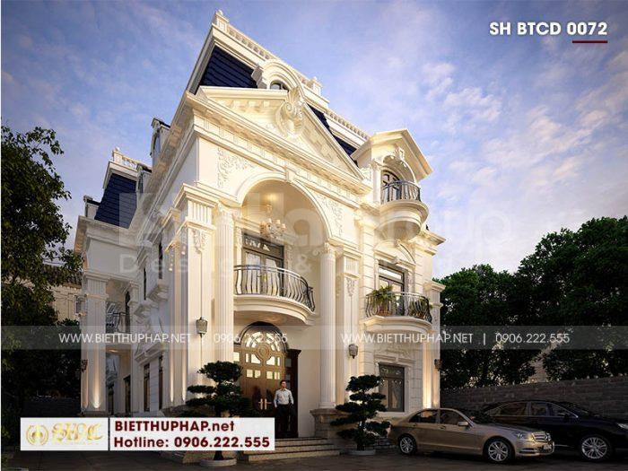 Mẫu biệt thự đẹp 3 tầng tối ưu công năng giúp tăng vượng khí và may mắn