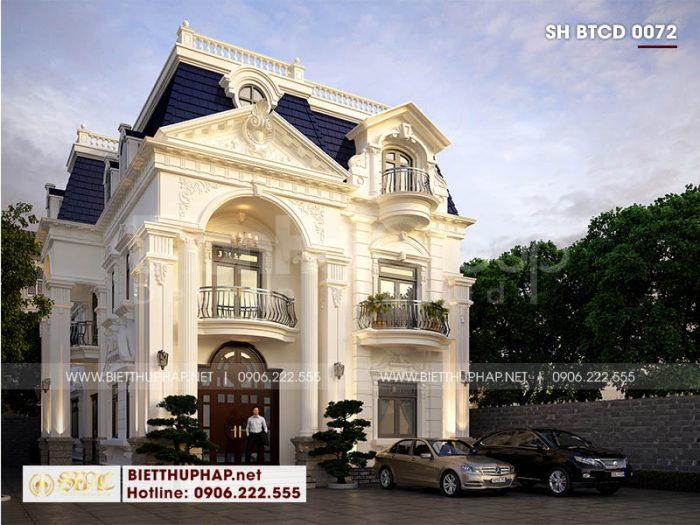 Cách tối ưu công năng biệt thự tân cổ điển 3 tầng rộng 10m tại Đà Nẵng