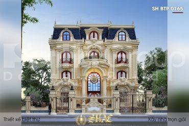 Sống đẳng cấp cùng thiết kế biệt thự tân cổ điển diện tích 263,76m2 (15,7mx16,8m) tại Đà Nẵng – SH BTP 0165